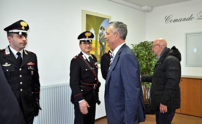 Varese, il Prefetto Enrico Ricci in visita ai Carabinieri