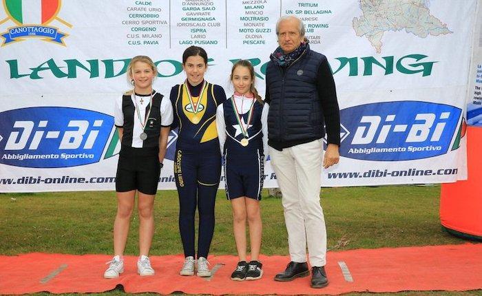 Canottieri Luino oro e bronzo alla regata giovanile di Eupilio