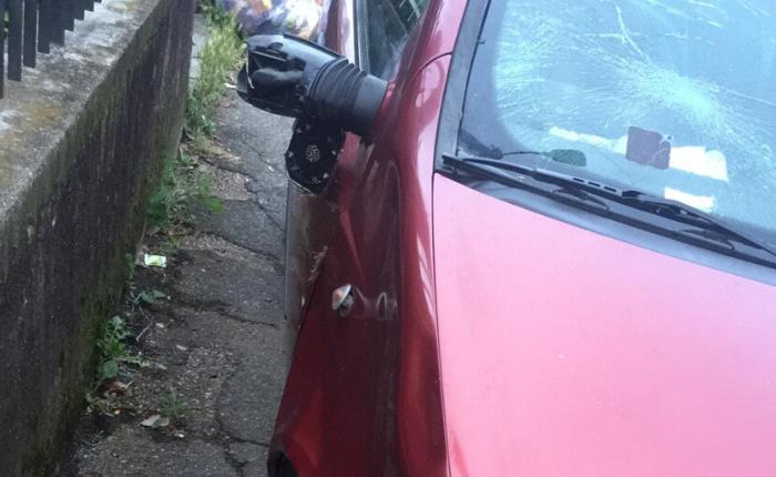 Gravi danni alla vettura coinvolta nello scontro, fortunatamente non ci sono feriti e il cervo riesce a fuggire apparentemente illeso