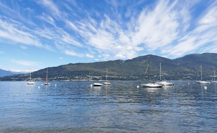 spiagge sul lago maggiore