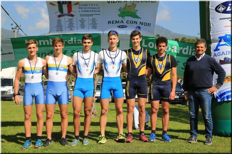 Canottieri Luino medagliata a Eupilio, un mese di aprile ricco di soddisfazione (2x ragazzi m Simone Pagliuca - Manuel Ippolito)