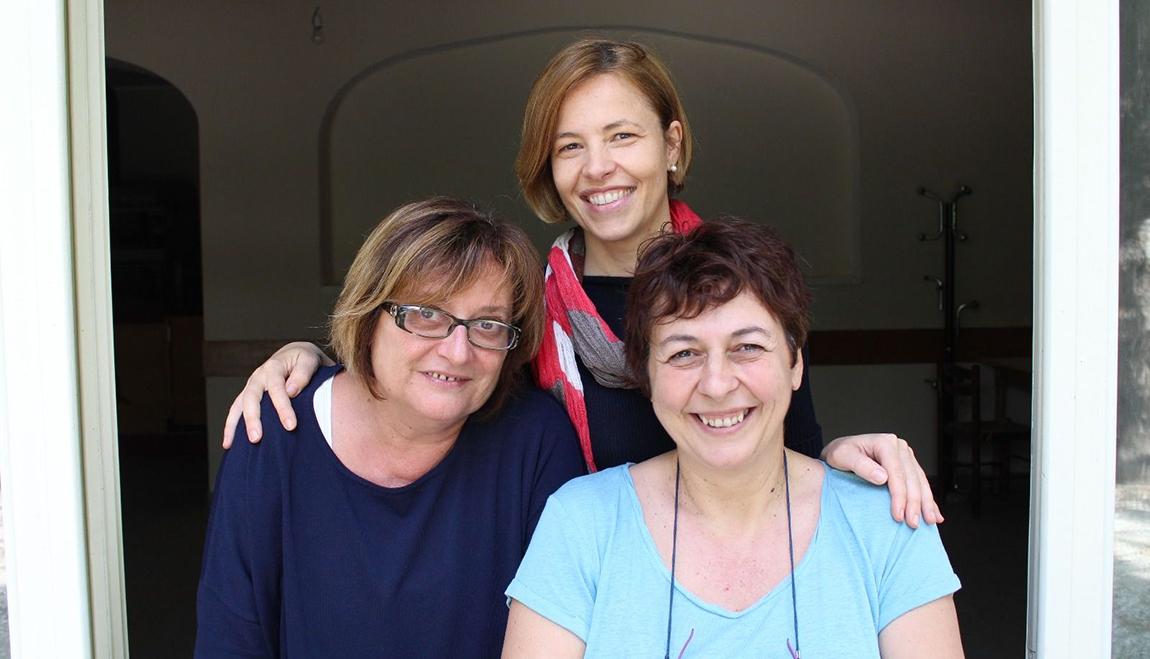 """Raffaella, Daniela e Cristina, promotrici del bando per """"Il Grotto del Sorriso"""""""