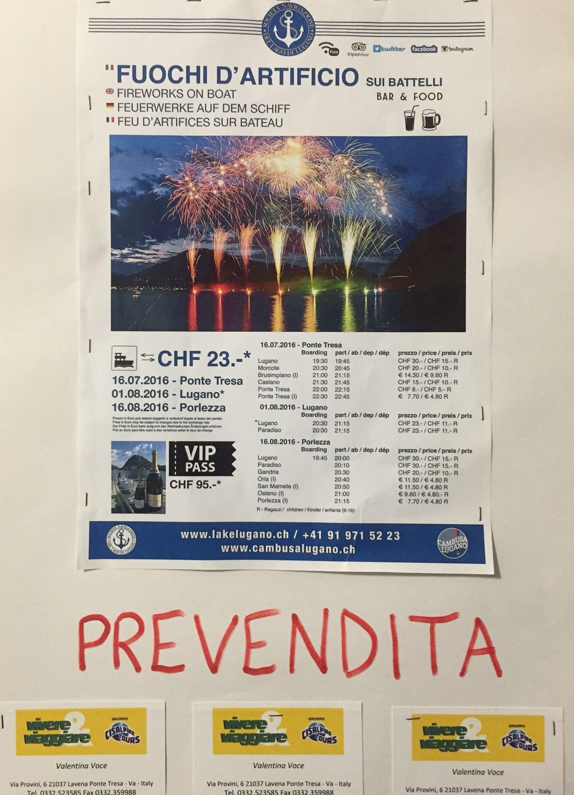 """Lavena Ponte Tresa: continua la """"Festa Italo-Svizzera"""", tutto pronto per i fuochi d'artificio. Ecco il programma"""