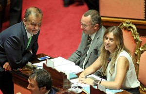 Riforme, il 13 ottobre si voterà il ddl Boschi in Senato. Calderoli pronto a ritirare gli 82mln emendamenti (ANSA/ALESSANDRO DI MEO)