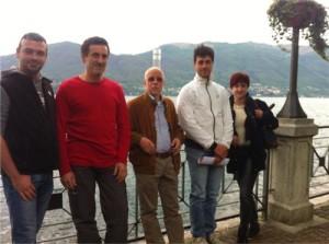 Alcuni consiglieri candidati ed il candidato sindaco, Filippo Colombo, per la (Fonte foto: varesenews.it)