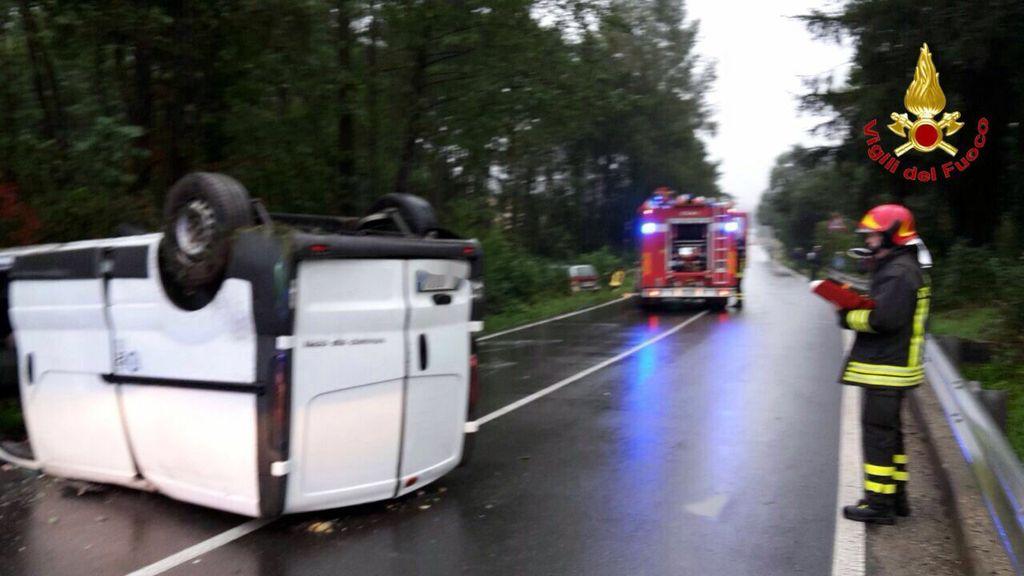 L'incidente di questa mattina a Rancio Valcuvia