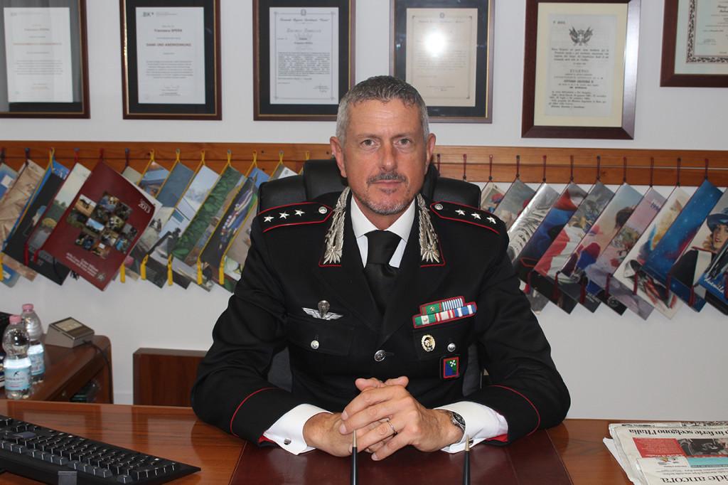 Il Capitano della Compagnia dei Carabinieri di Luino, Francesco Spera