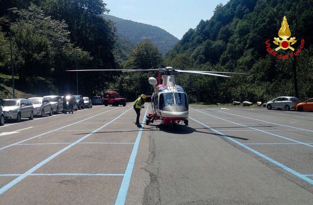Curiglia con Monteviasco: escursionista rimane ferito, salvato dall'intervento dell'elicottero dei Vigili del Fuoco. Ecco il video