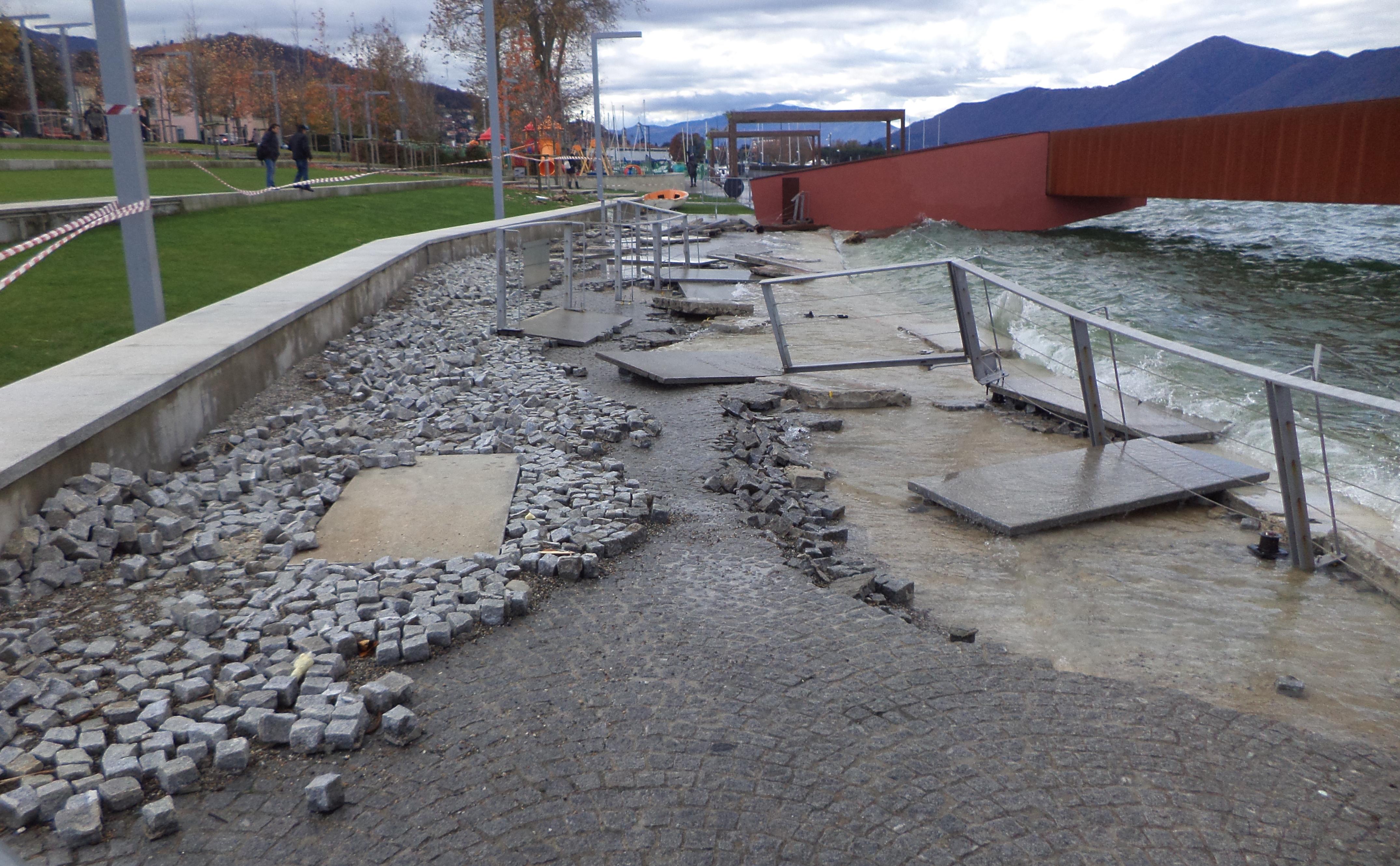 Danni dal maltempo, Parco a Lago Luino