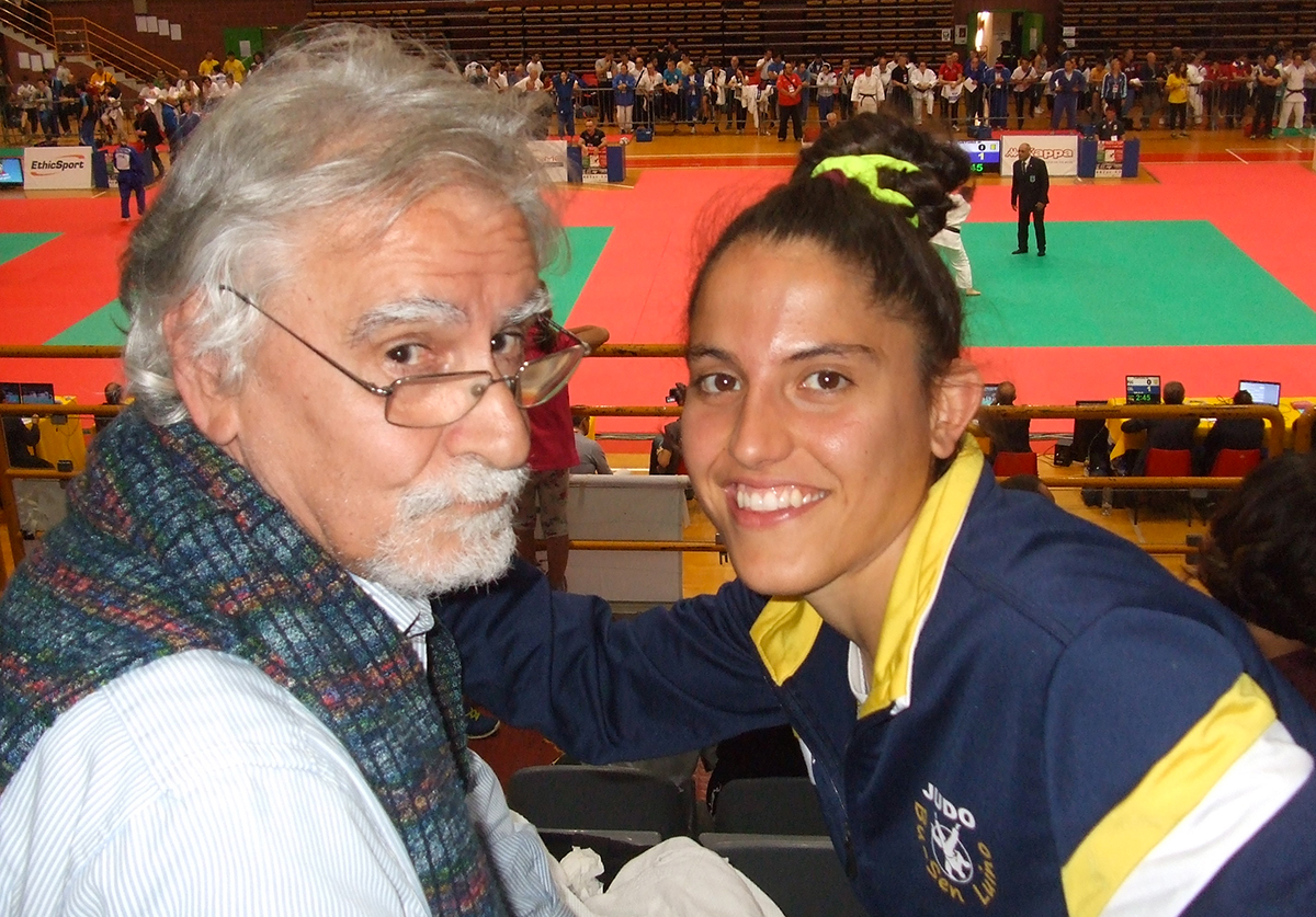 Salsomaggiore, Judo Bu-Sen Luino: Elena Benecchi con papà Atos