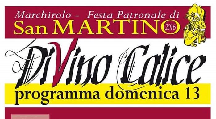 """Marchirolo: domenica, in occasione della festa di San Martino, giornata d'esordio per """"Di Vino Calice"""""""