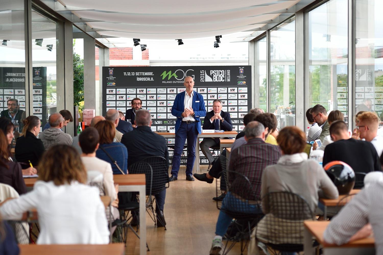 Le foto stampa della conferenza stampa di Milano Outdoor Games - credit ANSA
