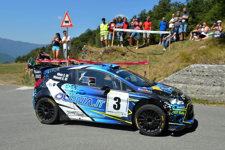 Miele è secondo assoluto al Rally Ronde Val d'Aveto con il luinese Mometti (Foto © Alquati)