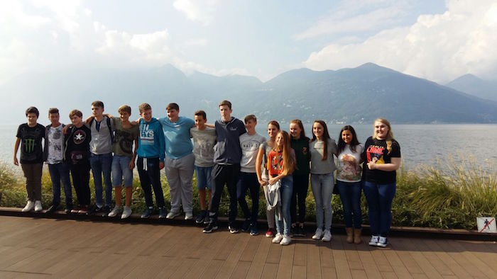 Studenti irlandesi in visita a Luino, gemellaggio con i compagni delle Scuole Medie