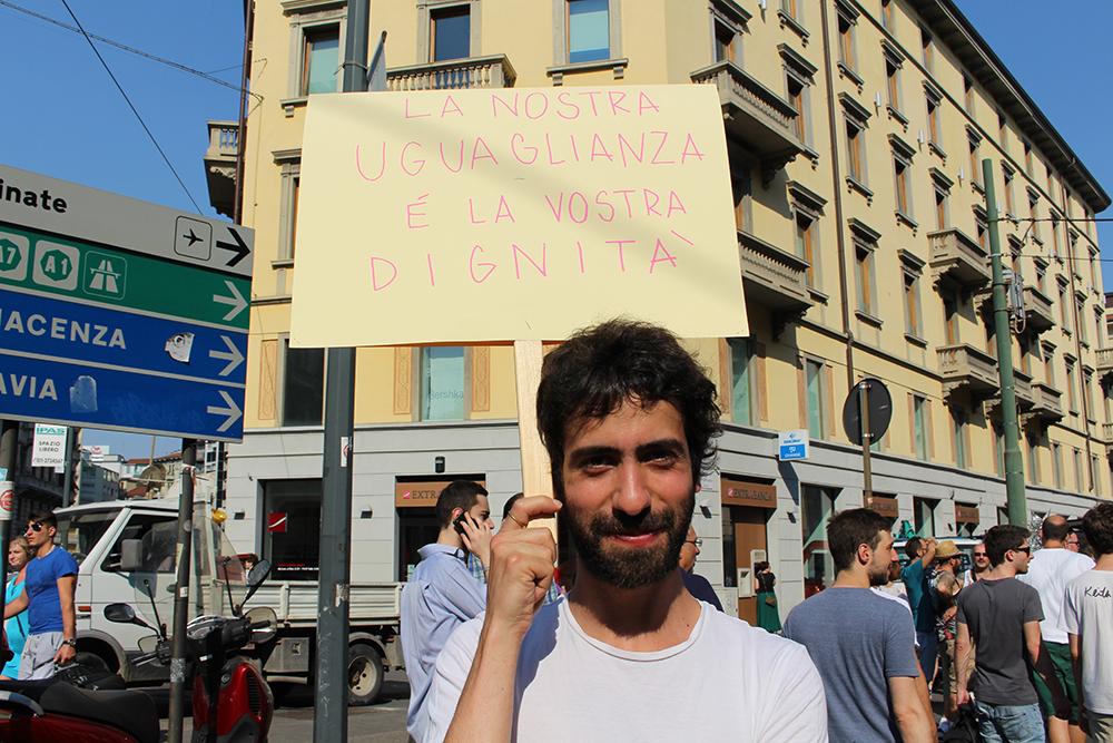 """I nostri cento momenti del """"Milano Pride"""" di oggi 27 giugno."""