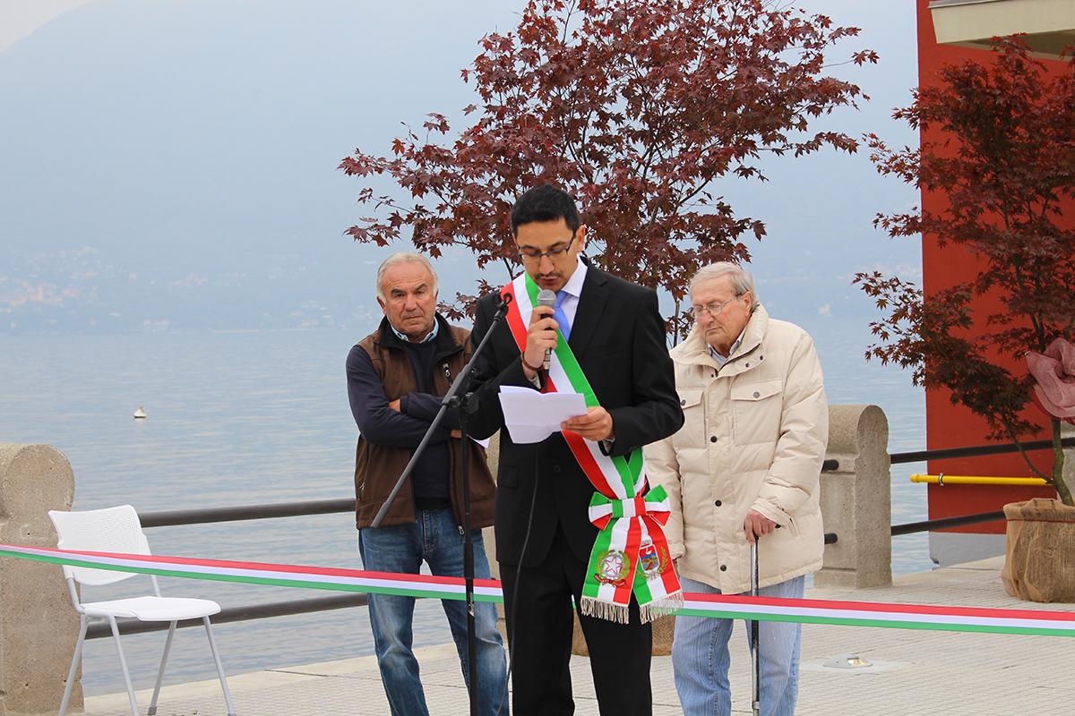 L'intervento del sindaco di Germignaga, Marco Fazio