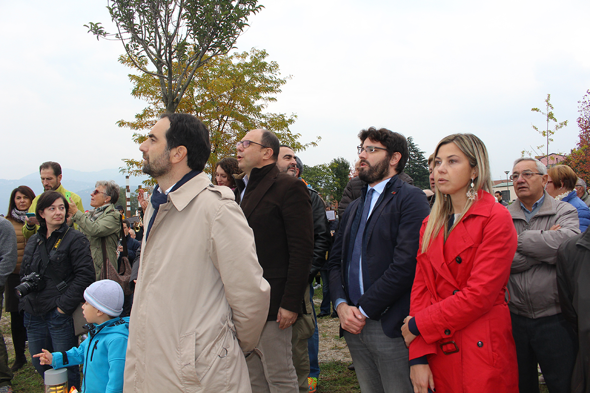 Da sinistra il consigliere regionale, Alessandro Alfieri, il deputato Angelo Senaldi, il consigliere provinciale, Paolo Bertocchi, e la deputata Maria Chiara Gadda
