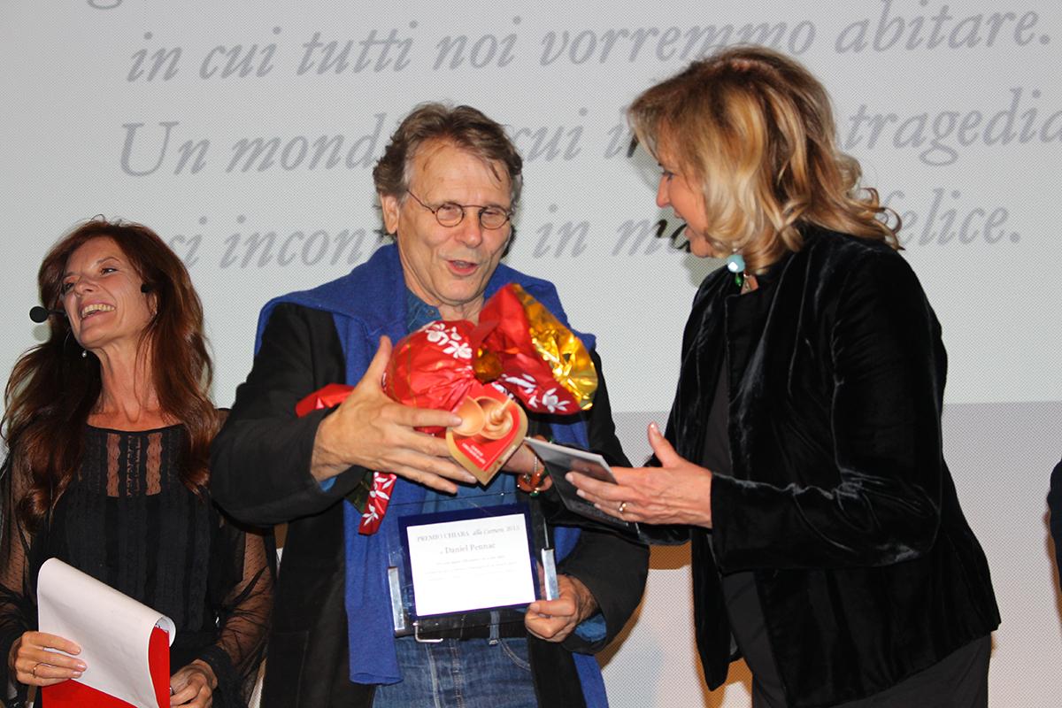 """""""Premio Chiara alla Carriera"""", Daniel Pennac: """"Combattendo le paure si possono aprire le porte della conoscenza"""""""