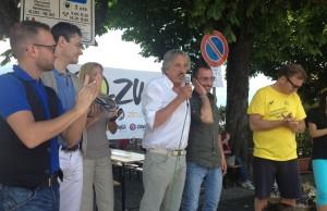 I saluti degli organizzatori, del sindaco Pellicini e degli assessori Miglio e Taldone