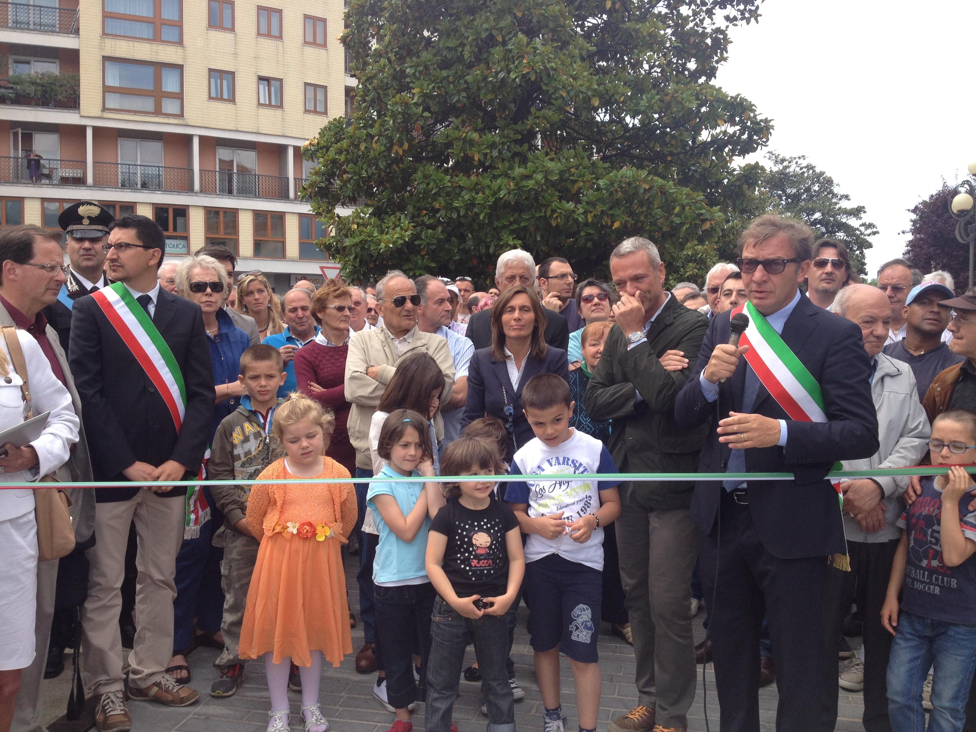 L'intervento del sindaco di Luino, Andrea Pellicini