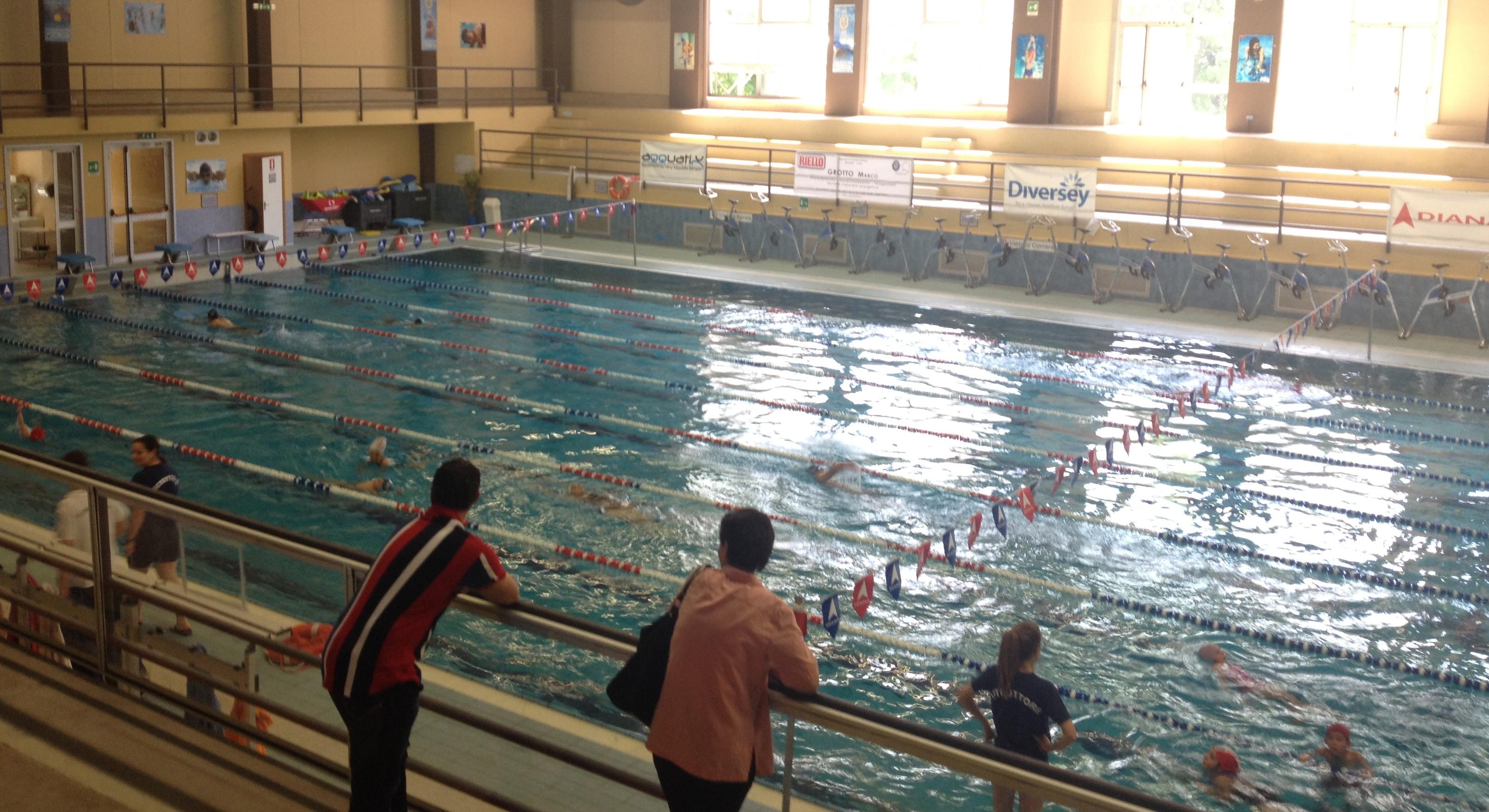"""La piscina di 25m del Centro Sportivo """"Le Betulle"""""""