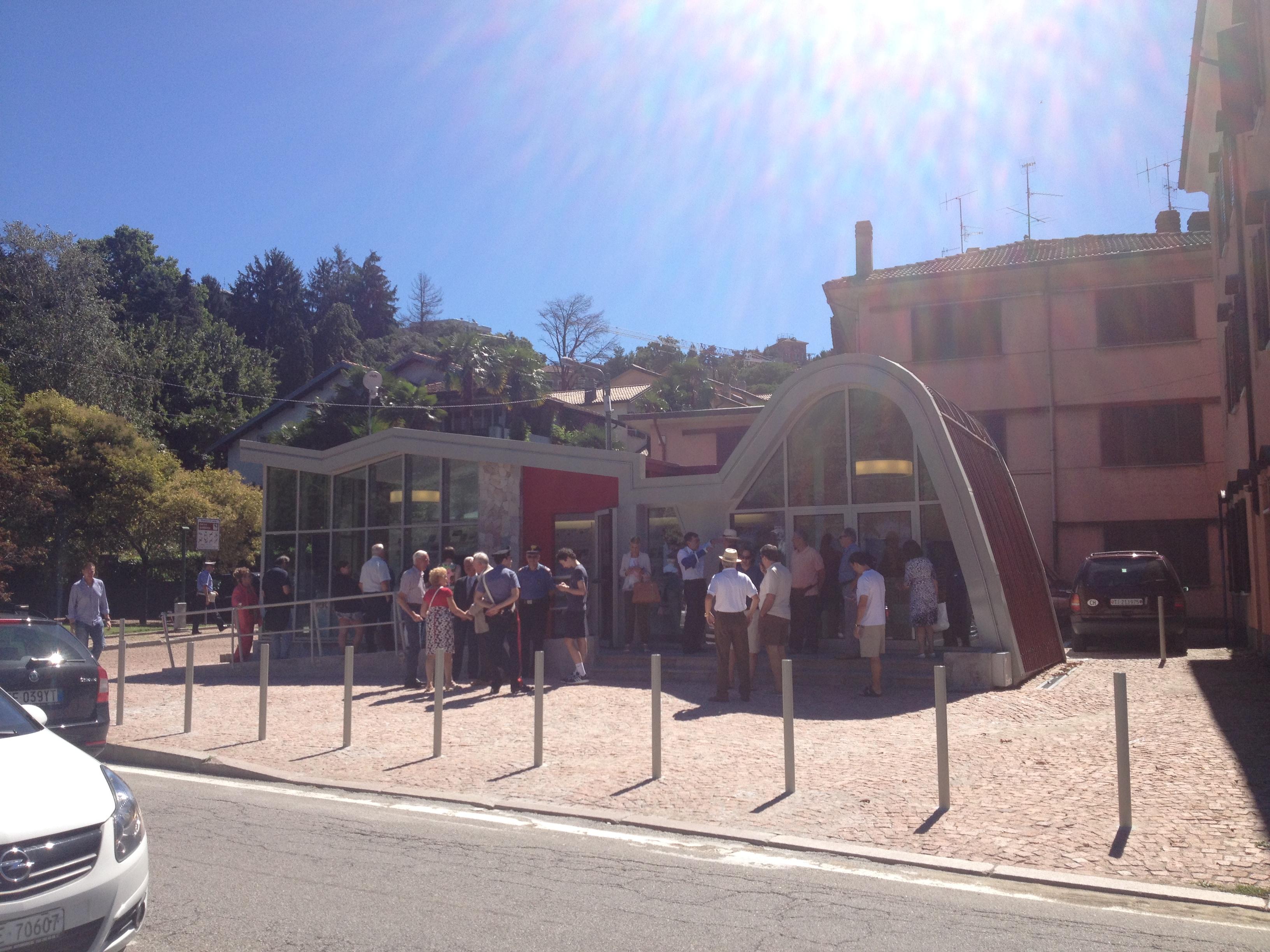 Il nuovo ufficio turistico di Luino in Viale della Vittoria