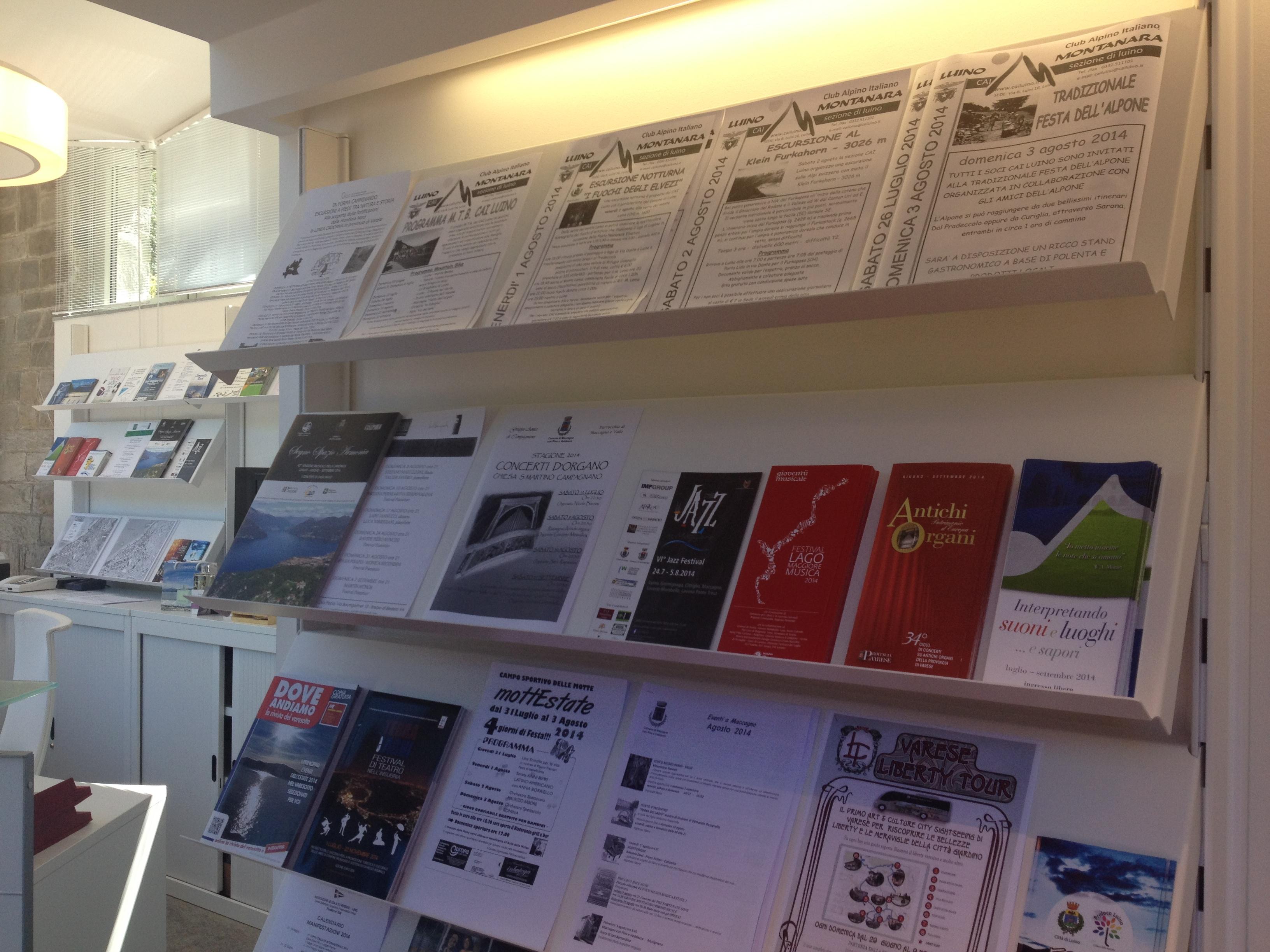 Ecco l'interno del nuovo ufficio turistico di Luino