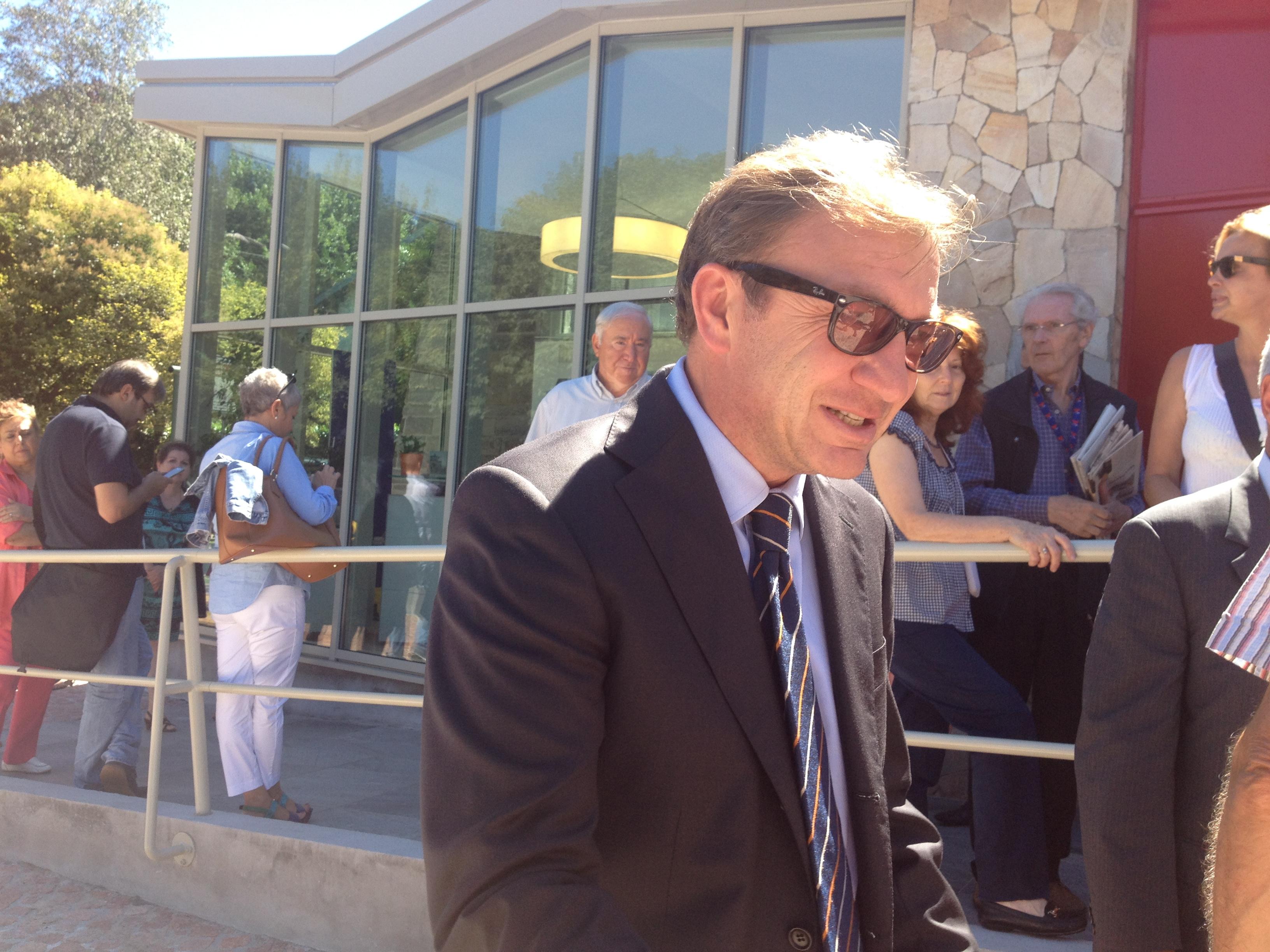 Il sindaco di Luino, Andrea Pellicini