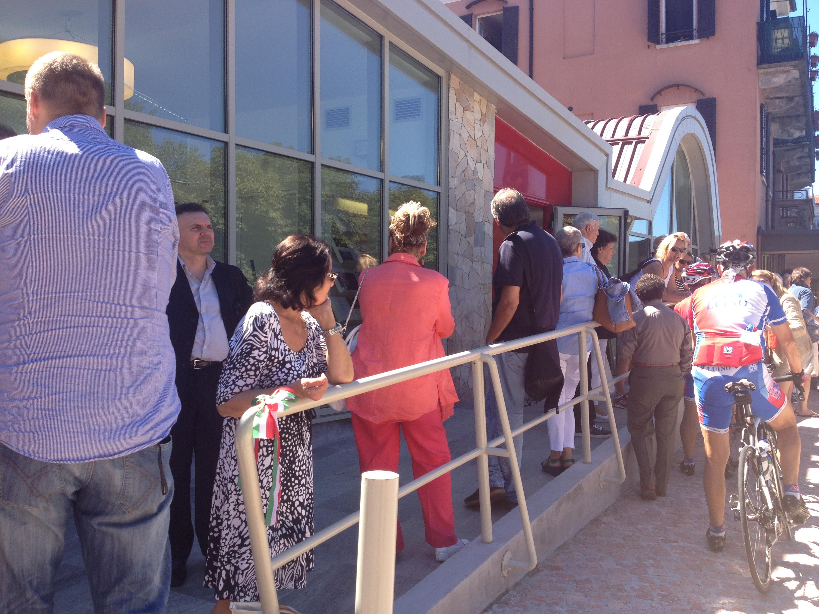 Alcune foto dell'inaugurazione dell'ufficio Iat di Luino