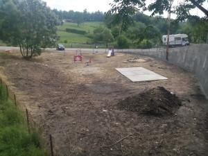 Il nuovo parco giochi in costruzione a Pianazzo