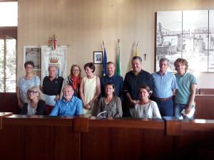 La conferenza stampa ieri nella sala consiliare del Comune di Luino