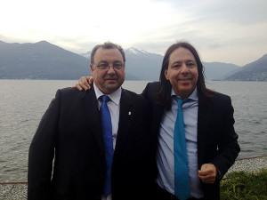 Il candidato sindaco del MIN, Pietro Agostinelli, con il segretario nazionale MIN, l'avvocato Gian Piero Maccapani