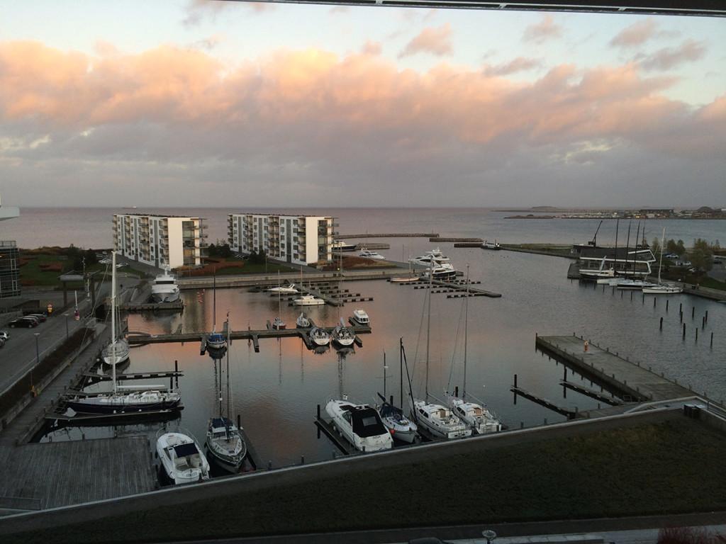 La vista dall'ufficio di Roberto a Copenhagen