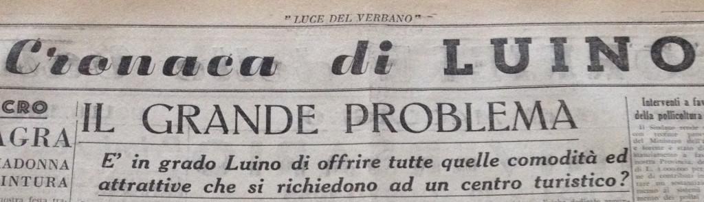 """Luino, per la """"Luce del Verbano"""" già nel 1955 il turismo era """"Il grande problema"""""""