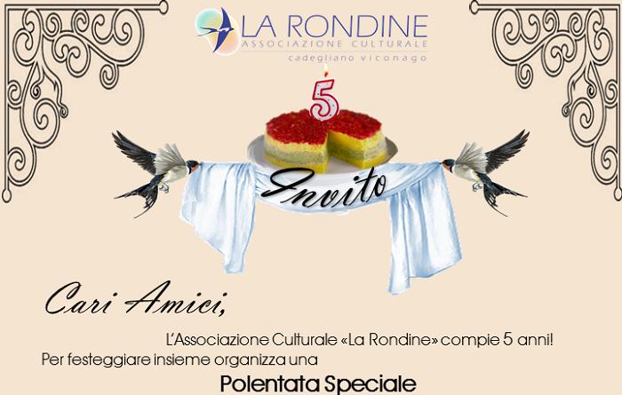 """Una cena tra amicizia e impegno sociale per il 5° compleanno de """"La Rondine"""""""