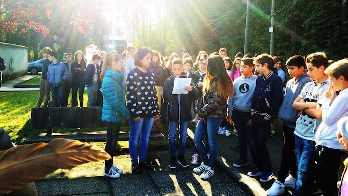 Gli studenti di Mesenzana e Roggiano omaggiano i partigiani della Gera. Inaugurata targa commemorativa