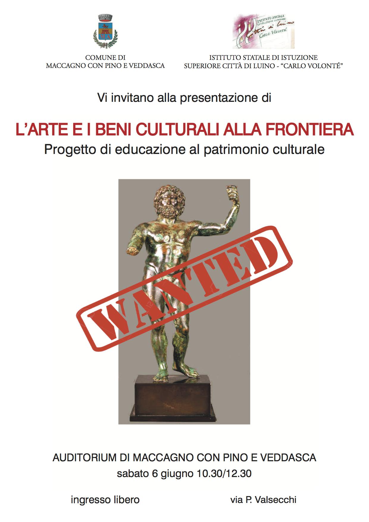 """""""L'arte e i beni culturali alla frontiera"""", un progetto degli studenti della 4^A Turismo dell'I.S.I.S. di Luino"""