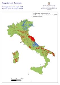 La mappatura dell'amianto presente in Italia