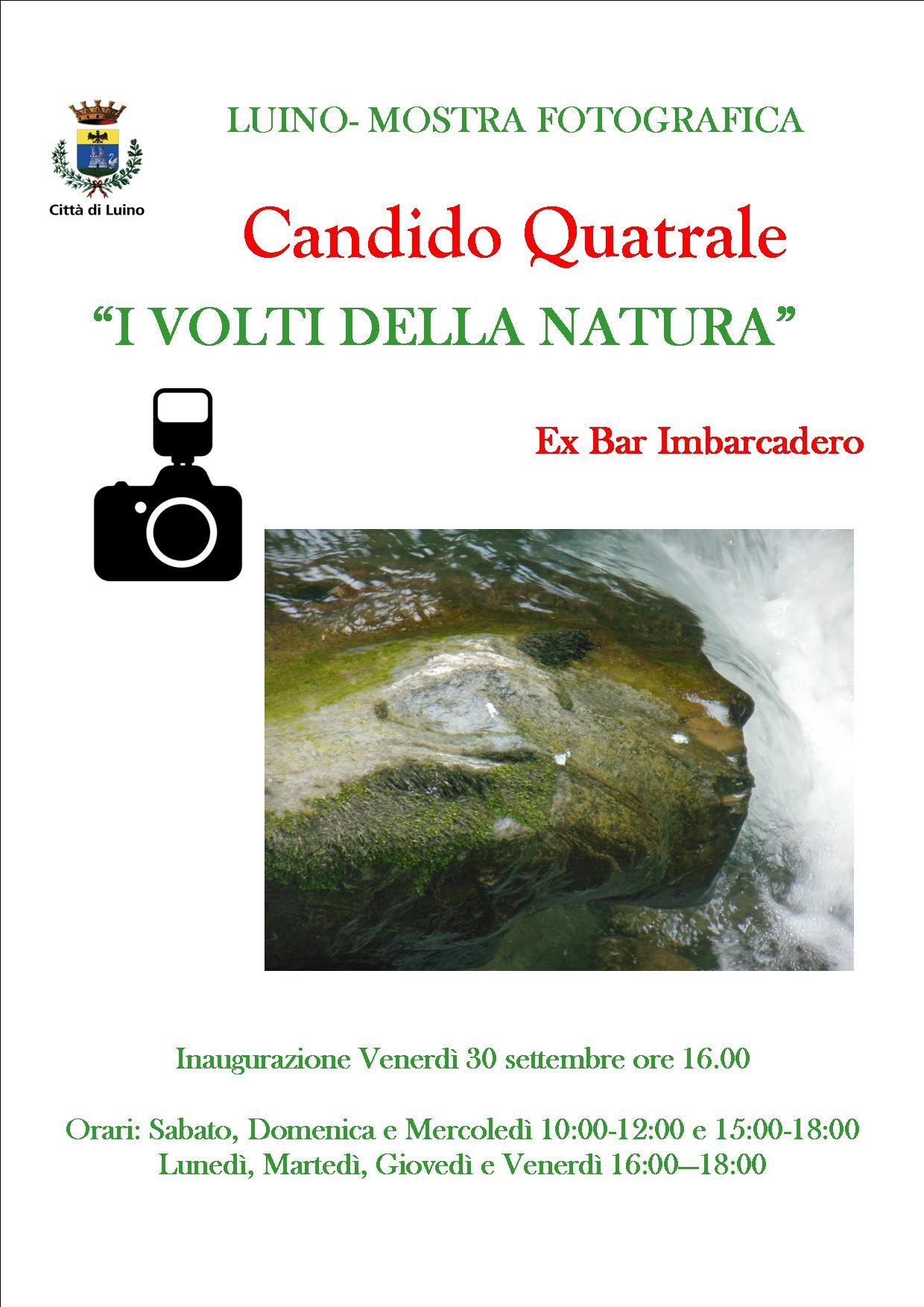 """Luino, venerdì 30 l'inaugurazione della mostra fotografica """"I volti della natura"""" di Candido Quatrale"""