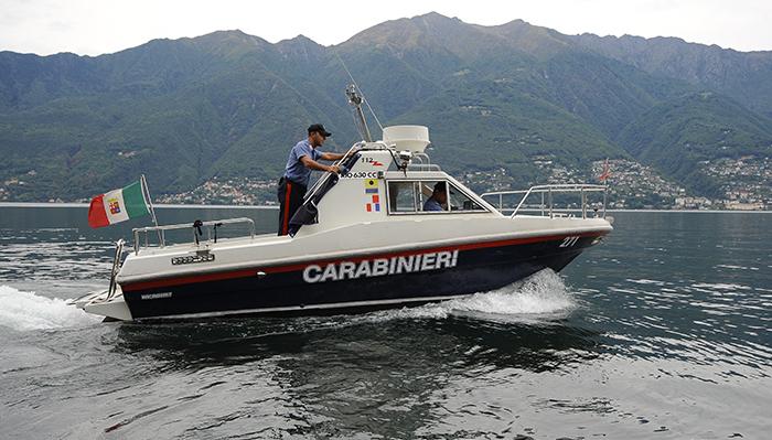 Luino, controlli dei Carabinieri in strada e nelle acque del lago Maggiore