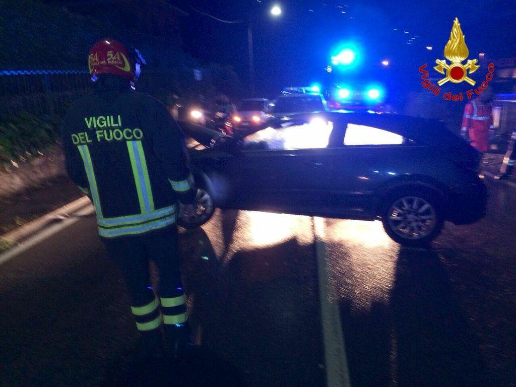 L'incidente di questa notte a Lavena Ponte Tresa