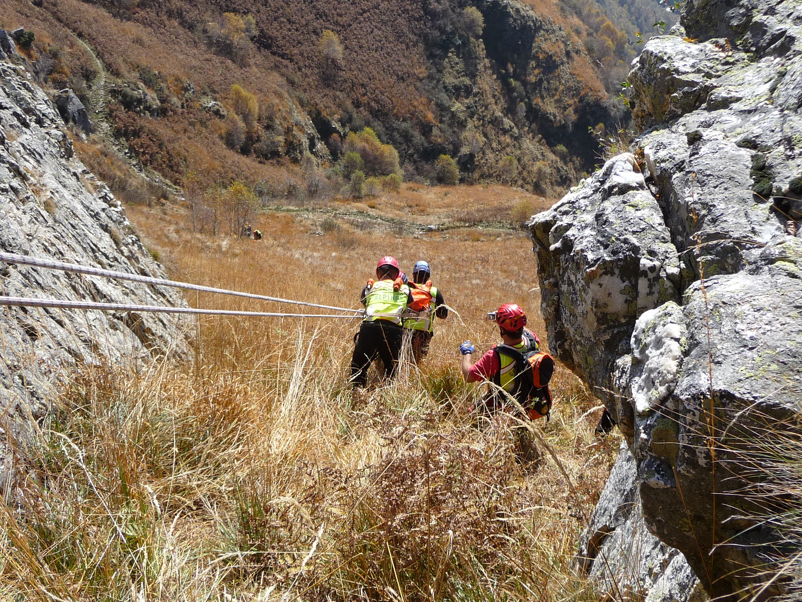 Un weekend di lavoro per i volontari del Soccorso Alpino nell'Alto Varesotto