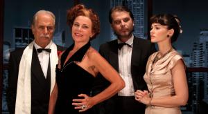 """I quattro protagonisti di """"Eva contro Eva"""", in scena domani sera a Luino (teatrodimessina.it)"""