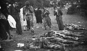 Un'immagine del massacro delle Foibe