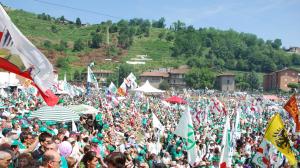 Il raduno della Lega Nord a Pontida nel 2013 (lapadania.net)