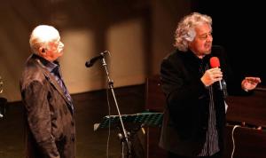Gino Paoli insieme a Beppe Grillo (genova.repubblica.it)