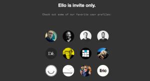 """La homepage di """"Ello"""" (ello.co)"""