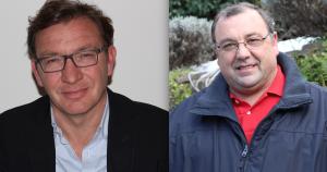 Il sindaco di Luino, Andrea Pellicini, ed il consigliere di minoranza MIN, Pietro Agostinelli