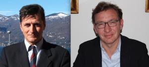 L'assessore, Alessandro Barozzi, ed il sindaco di Luino, Andrea Pellicini