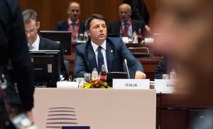 Renzi partecipa alla prima sessione del Consiglio europeo (Foto © Palazzo Chigi - flickr.com)